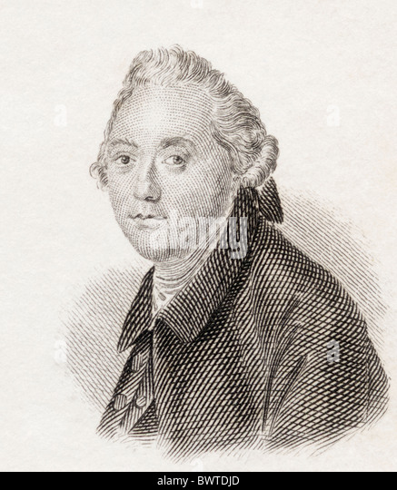George Steevens, 1736 to 1800. English Shakespearean commentator. - Stock Image