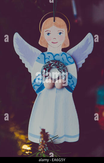 Angel Christmas ornament - Stock Image