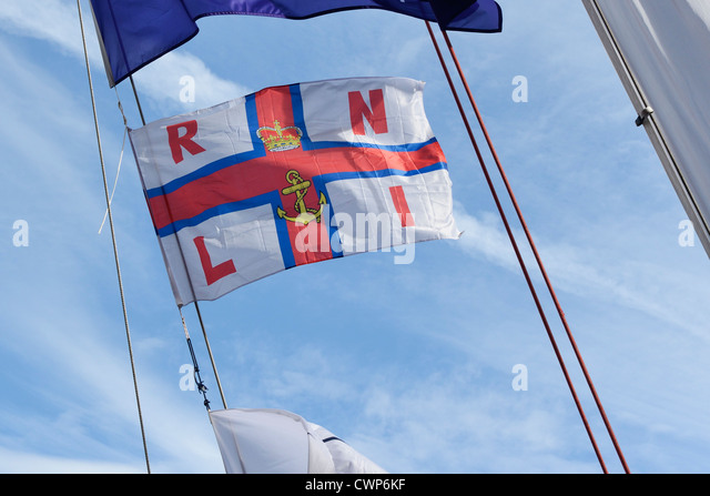 RNLI flag flying - Stock Image