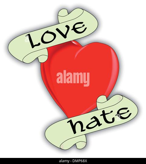 Hate cut out stock images pictures alamy for Love n hate tattoo