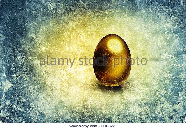 golden egg image - Stock Image