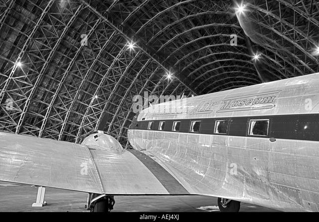 Douglas DC 3 C 47 Tillamook Air Museum - Stock Image