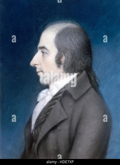 Albert Gallatin, Abraham Alfonse Albert Gallatin, a Swiss-American politician, diplomat, ethnologist and linguist. - Stock Image