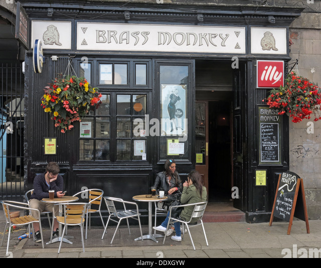 The Brass Monkey Pub, Edinburgh, Scotland, UK - Stock Image