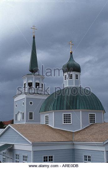 Alaska Stika St. Michael's Russian Orthodox Cathedral - Stock Image