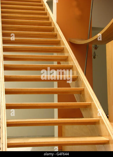 Wooden Staircase - Stock Image