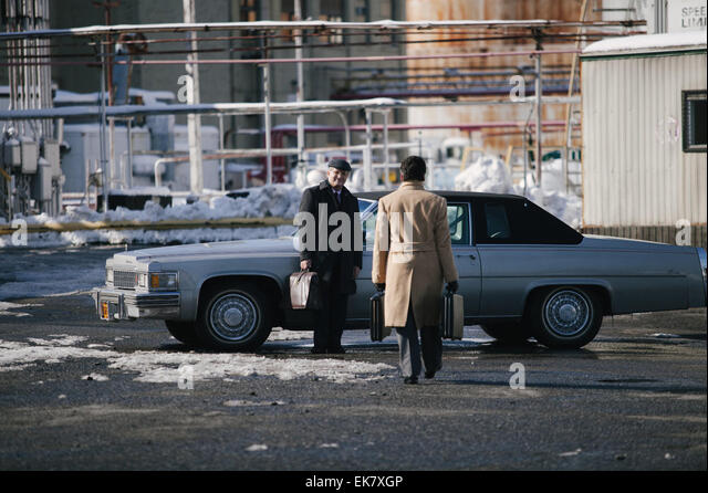 A Most Violent Year is a 2014 crime drama film written and directed by J. C. Chandor. The film stars Oscar Isaac - Stock Image