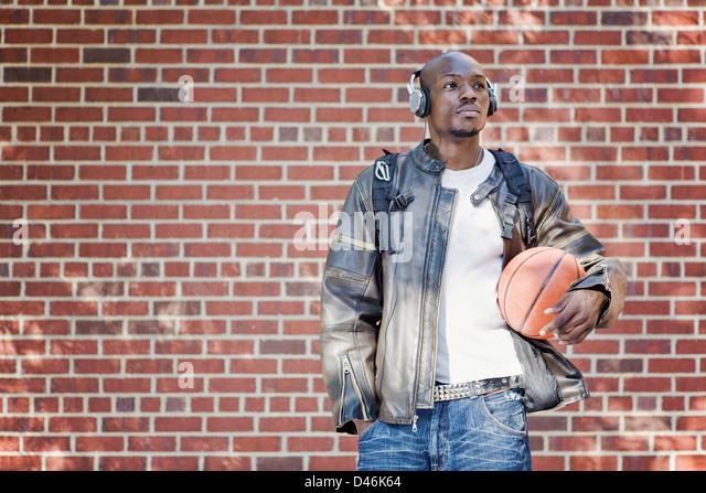 Urban portrait of a handsome black man - Stock-Bilder