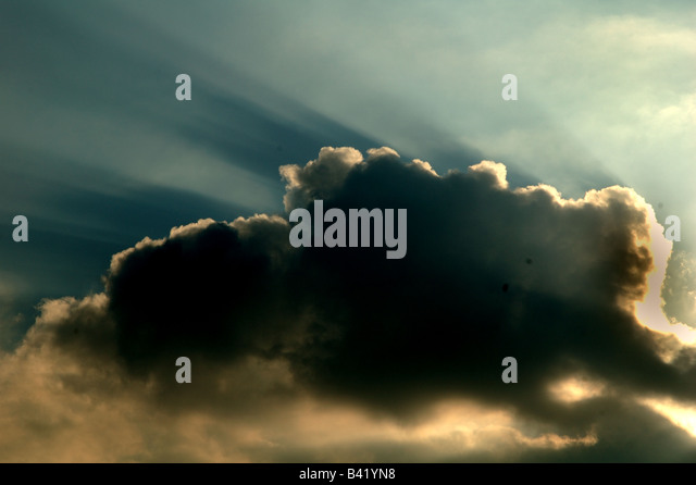Cloud with a silver lining. See also B41YPH - Stock Image