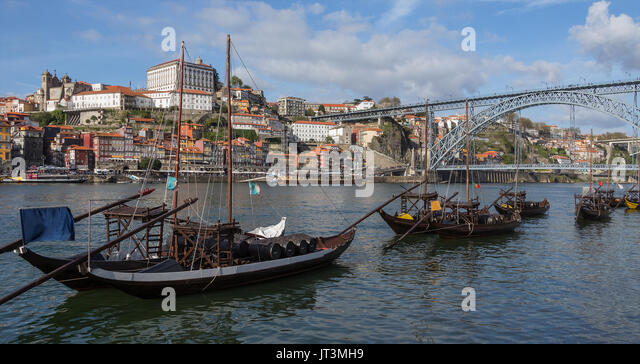 The city of Oporto (or Porto) in Portugal. Porto is one of the oldest European ports, and its historical centre - Stock Image