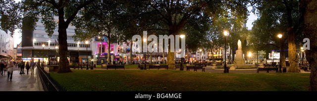 Panoramic view of Leicester Square - Stock Image
