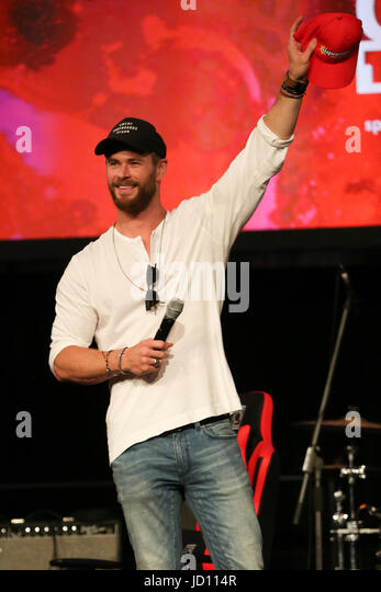 Sydney, NSW, Australia. 18th June, 2017. Chris Hemsworth attends Supanova Comic Con Sydney 2017 Credit: Christopher - Stock Image