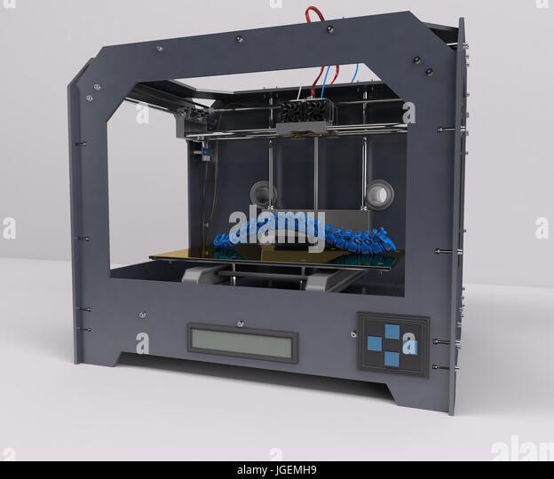 3D Render of 3 Dimensional  Printer - Stock Image