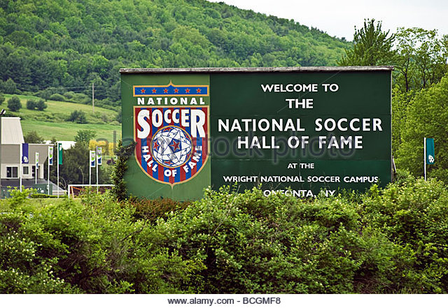 National Soccer Hall of Fame Oneonta New York - Stock Image