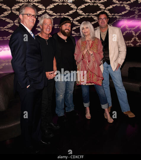 Sept. 13, 2011 - Los Angeles, California, USA -  From left, Country Music Hall of Fame Director Kyle Young, Kevin - Stock Image