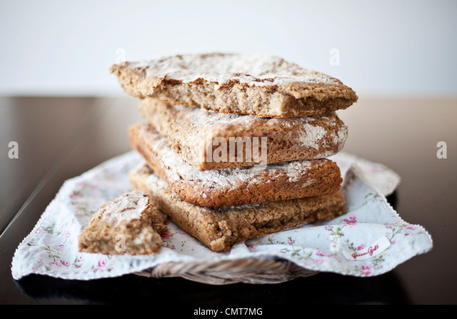 Pile of bread - Stock Image