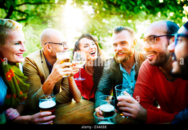 Party Celebrating Friendship Drinking Togethernness Concept - Stock Image