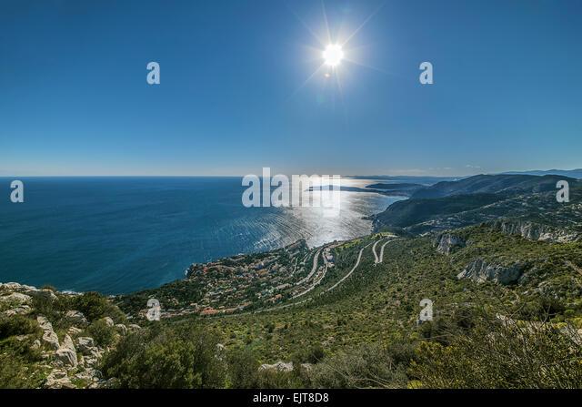 French Riviera coastline - Stock Image