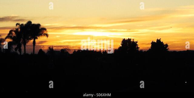 Beautiful sunset in California - Stock Image