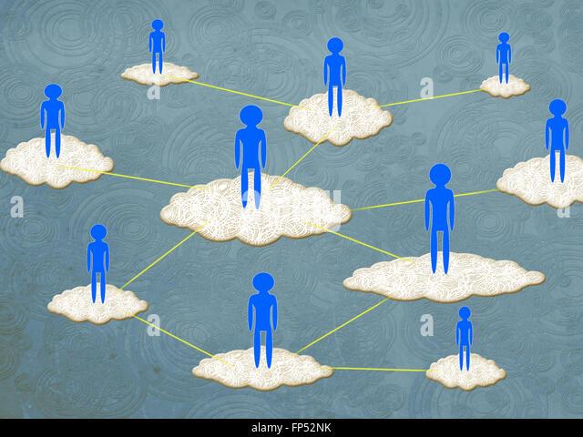 cloud computing concept digital illustration - Stock-Bilder