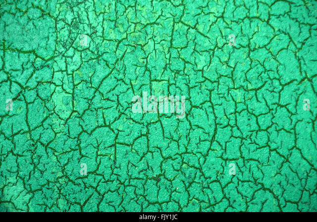 Full Frame Shot Of Green Textured Wall - Stock Image