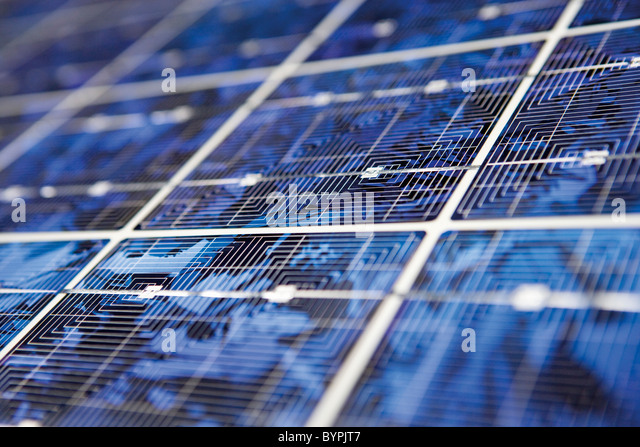 Solar panel, extreme close-up - Stock Image