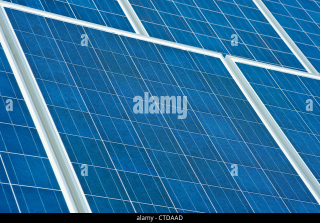 Solar Panels Detail - Stock Image
