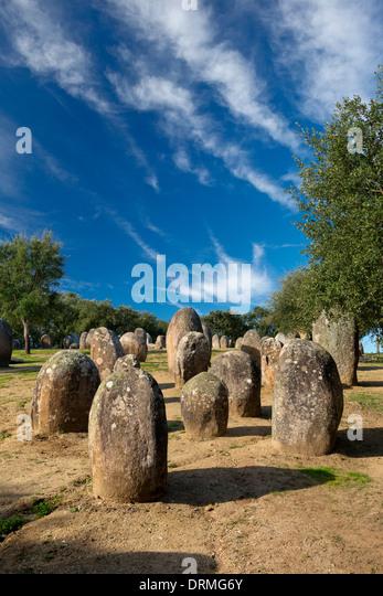 Portugal, the Alentejo, Evora, Cromeleque dos Almendres, near Evora - Stock Image