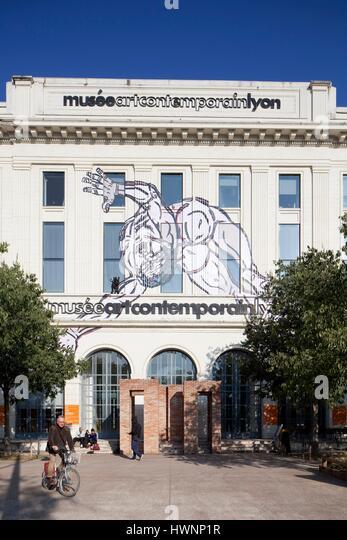 France, Rhone, Lyon, The International Cité. Contemporary art museum - Stock-Bilder