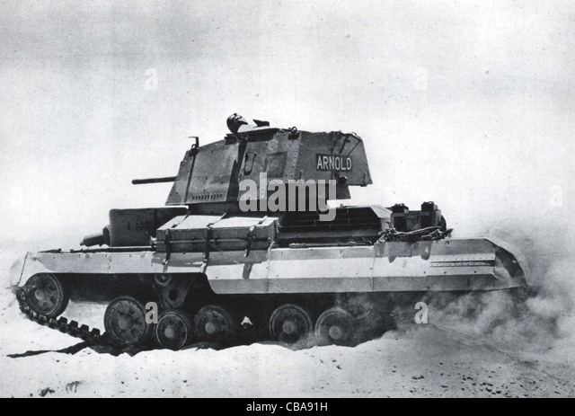 British WW11 Valentine cruiser tank. North Africa. - Stock Image