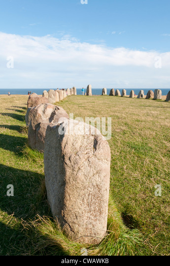Mégalithes de Ale Megaliths Ale - Stock Image
