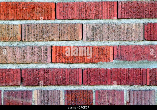 red brick wall - Stock Image