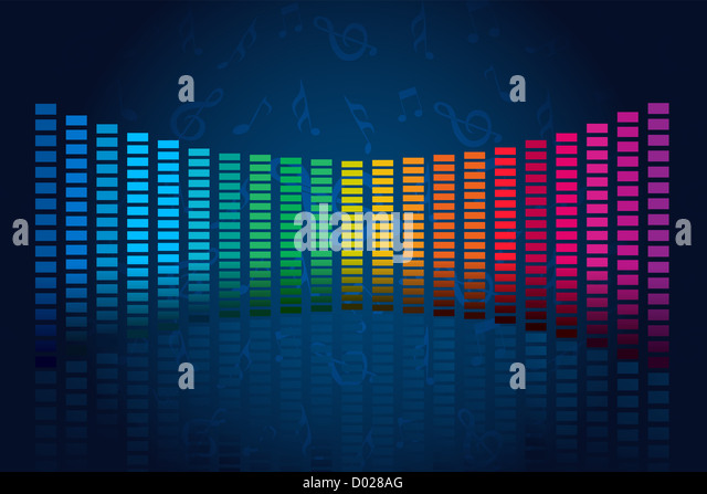 illustration of abstract music waves on abstract background - Stock-Bilder