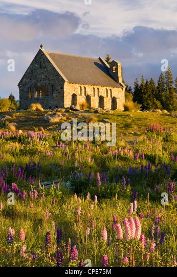 Church of the Good Shepherd, Lake Tekapo, South Island, New Zealand, Pacific - Stock Image