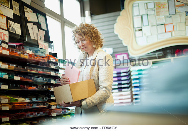 owner of stationery store - Stock-Bilder