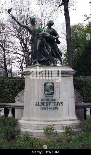 General Albert Thys.1849?1915.Belgian businessman active in the Congo Free State. - Stock-Bilder