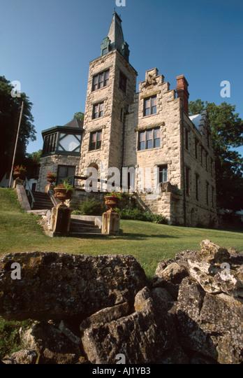 Ohio West Liberty Mac O Chee Castle European style limestone chateau - Stock Image