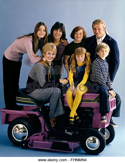SUSAN DEY DAVID CASSIDY DANNY BONADUCE DAVE MADDEN SHIRLEY JONES SUZANNE CROUGH & BRIAN FORSTER THE PARTRIDGE - Stock Image
