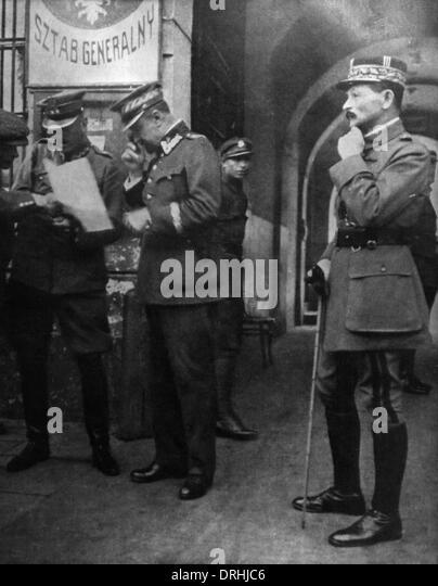 General Weygand and General Rozwadowski, Poland - Stock Image