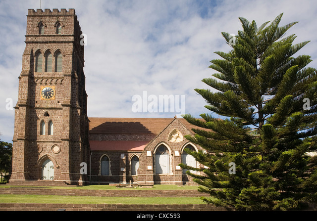 St. George's Anglican church, Basseterre, St. Kitts and Nevis, West Indies, Caribbean, Central America - Stock Image