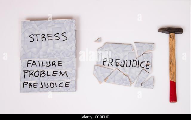 overcome prejudice - Stock Image