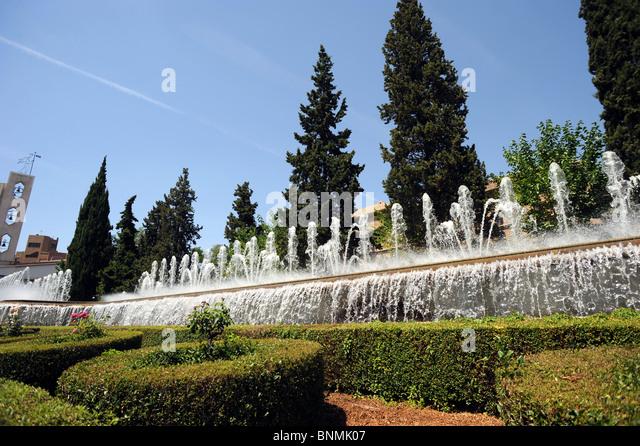 Granada spain jardines del triunfo stock photos granada for Jardines triunfo granada