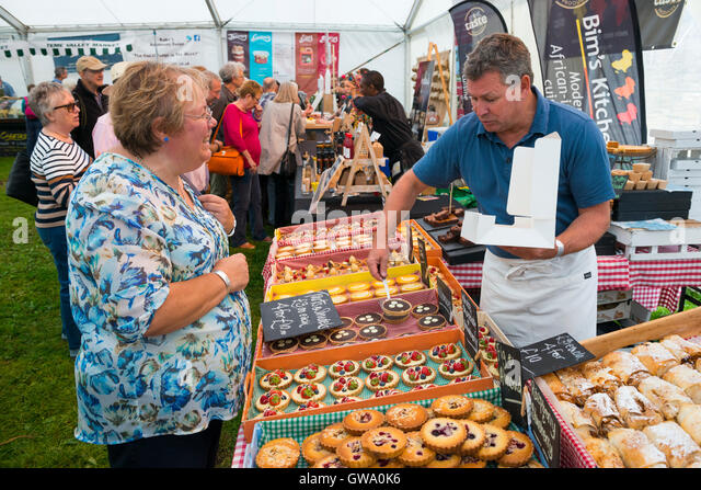 Love Patisserie pastries on sale at Ludlow Food Festival, Shropshire, England, UK - Stock Image