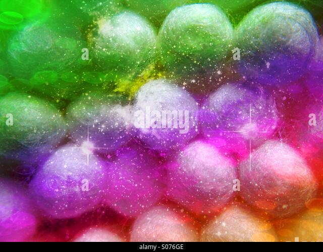 Close up of cotton buds - Stock Image