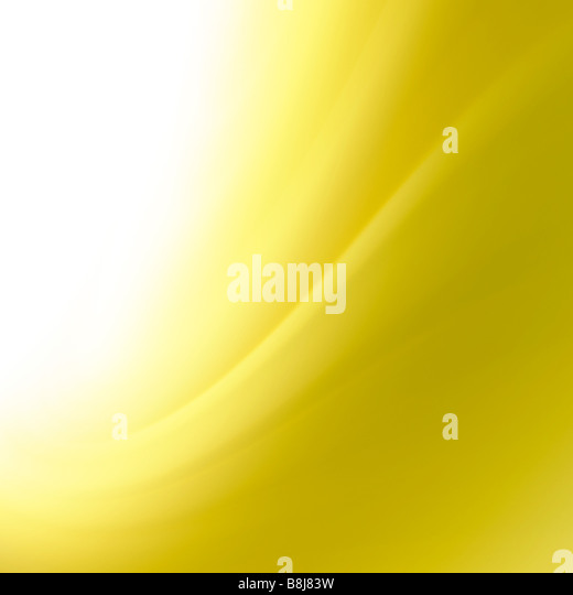 abstract yellow curves background - Stock Image