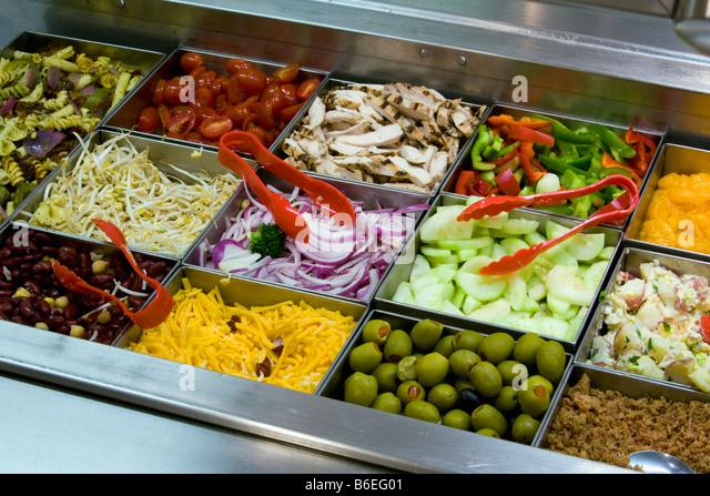 USA, New York State, Salad bar - Stock-Bilder