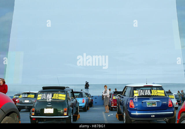 MINI AT THE DRIVE-IN MOVIES MINI DRIVE IN PREMIERE OF THE PARAMOUNT STUDIOS HOLLYWOOD LOS ANGELES USA 20 May 2003 - Stock Image