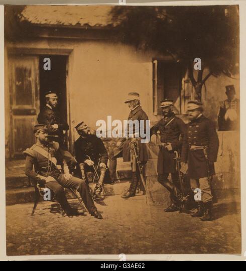 Major General Estcourt, Adj.-Gen. Major De Morel, Captain Thompson, Lieutenant-Colonel Blane, Major Kirkland, Lieutenant - Stock Image