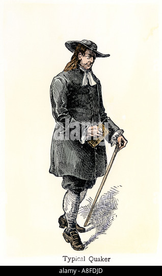 Typical Quaker in early Pennsylvania - Stock Image
