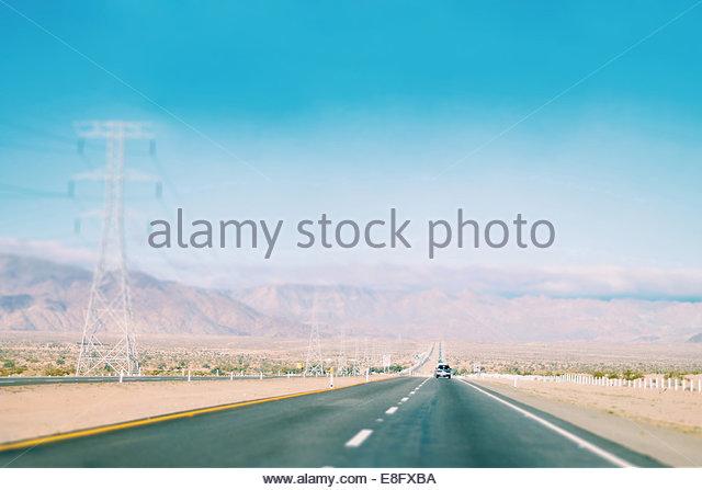 Mexico, Baja California, Tecate, Road trip - Stock Image